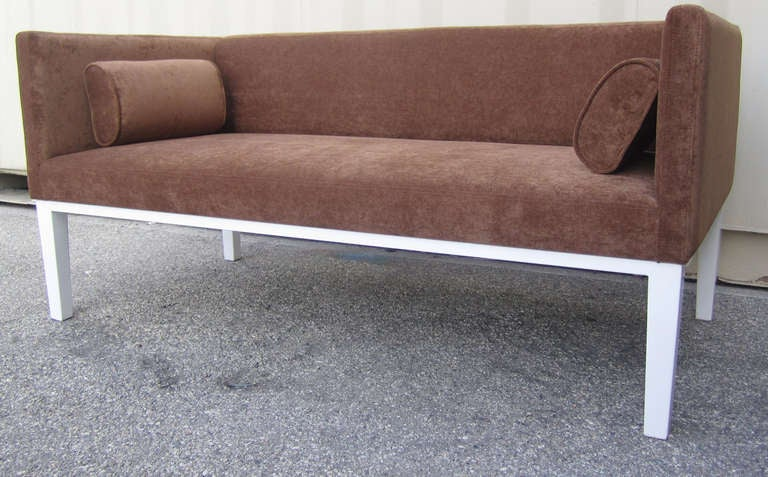 Midcentury Tuxedo Loveseat In Excellent Condition For Sale In Los Angeles, CA