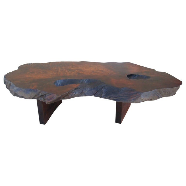 Live edge coffee table after george nakashima at 1stdibs One of a kind coffee tables