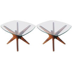 Pair of Walnut Adrian Pearsall Side Tables