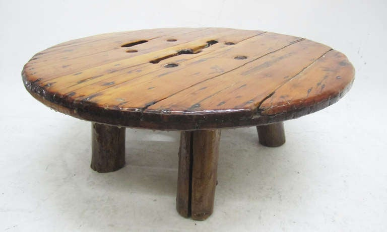 Unusual roughly hewn wood coffee table at 1stdibs for Quirky coffee tables