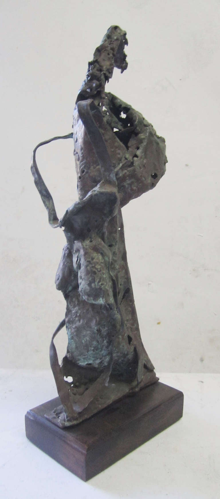 American Abstract Expressionist Bronze Sculpture by Howard Quam For Sale