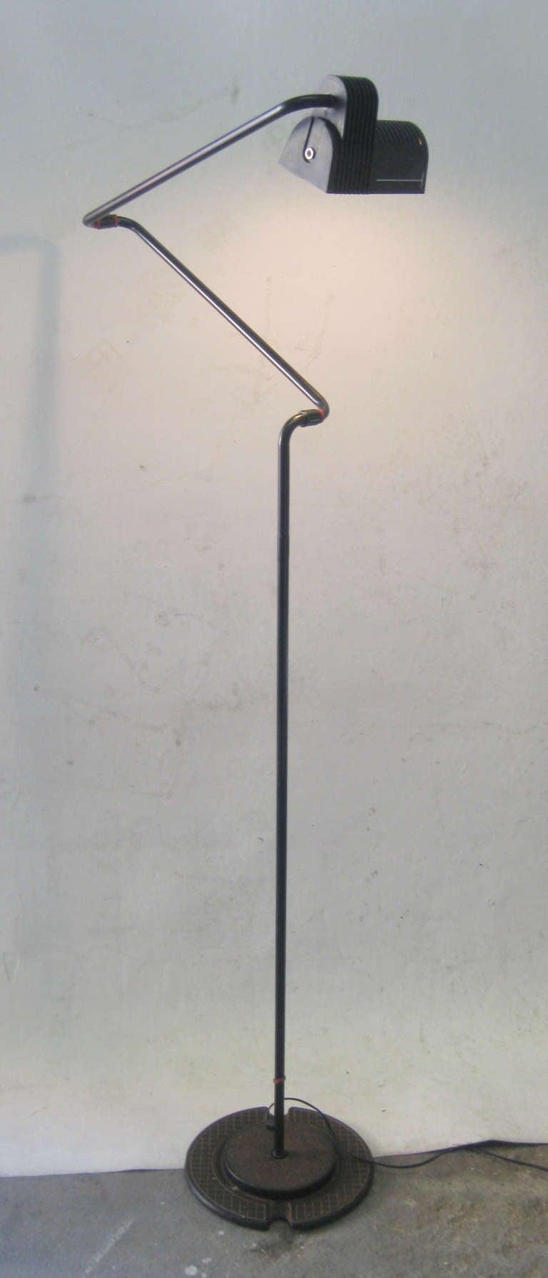 Bending Industrial Floor Lamp At 1stdibs