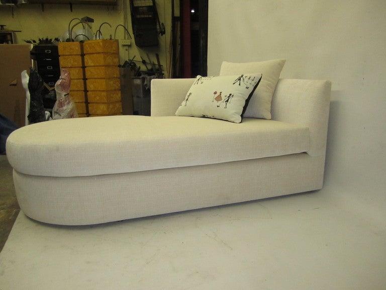 Elegant Cream Chaise Lounge 2