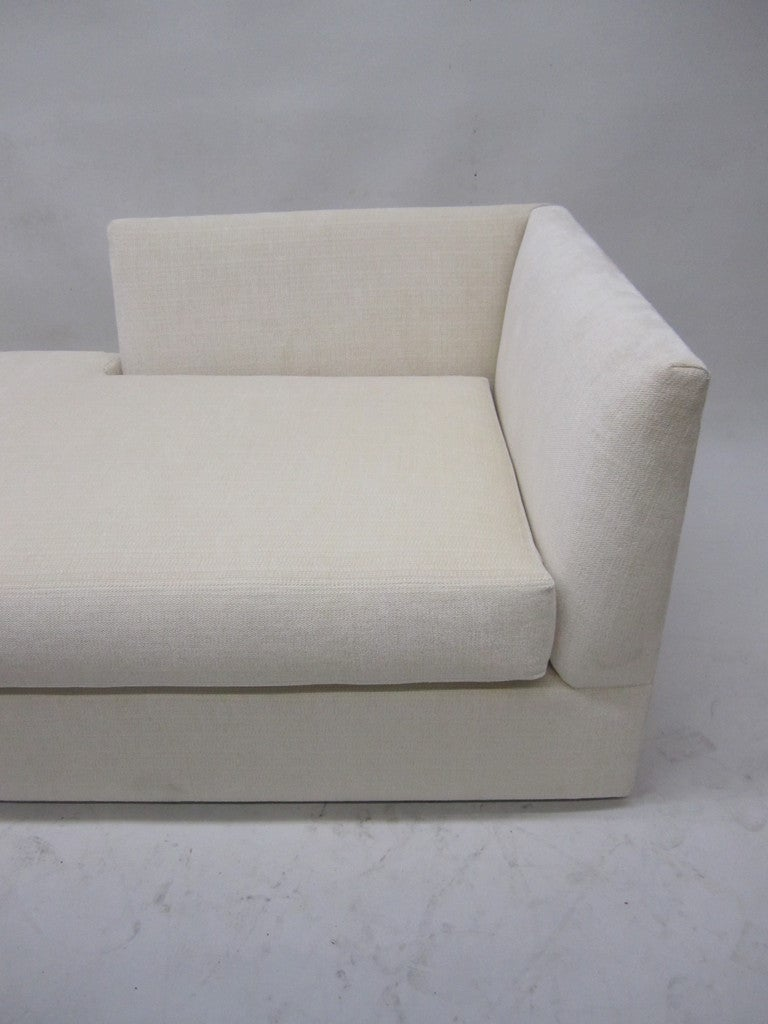 Elegant Cream Chaise Lounge 3