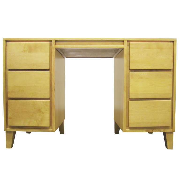 American Modern Desk By Russel Wright For Conant Ball At 1stdibs