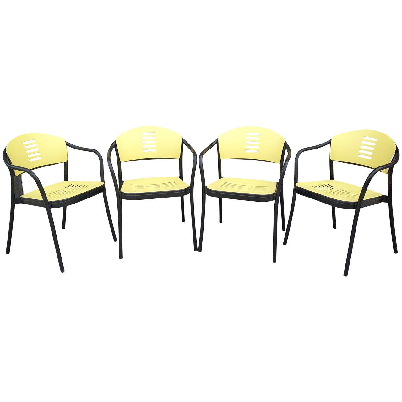 Set Of Mauna Kea Outdoor Chairs By Vico Magistretti For Kartell For Sale