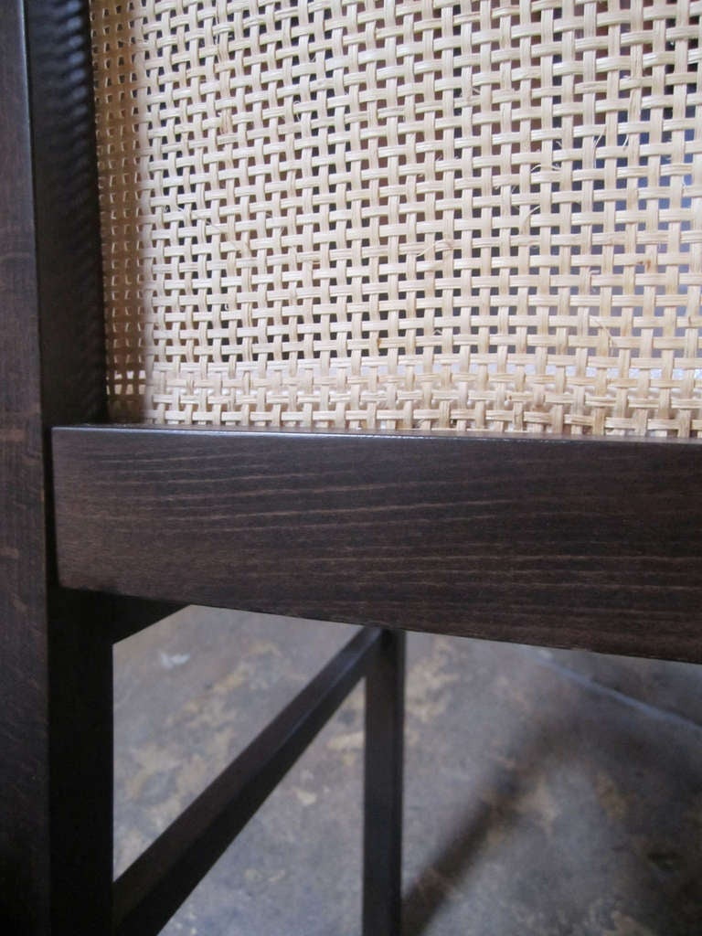 Italian Cane Back Dining Chairs, Set of Eight For Sale 1