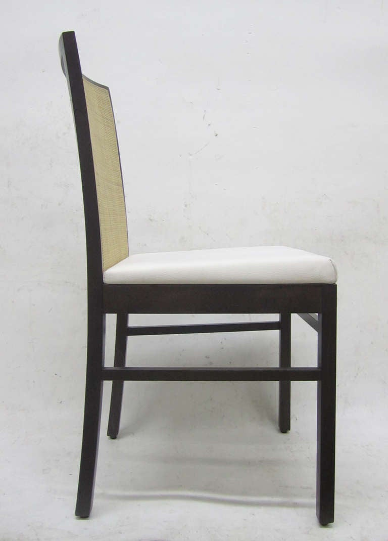 Italian Cane Back Dining Chairs, Set of Eight For Sale 2