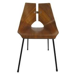 Ray Komai Bentwood Walnut Chair