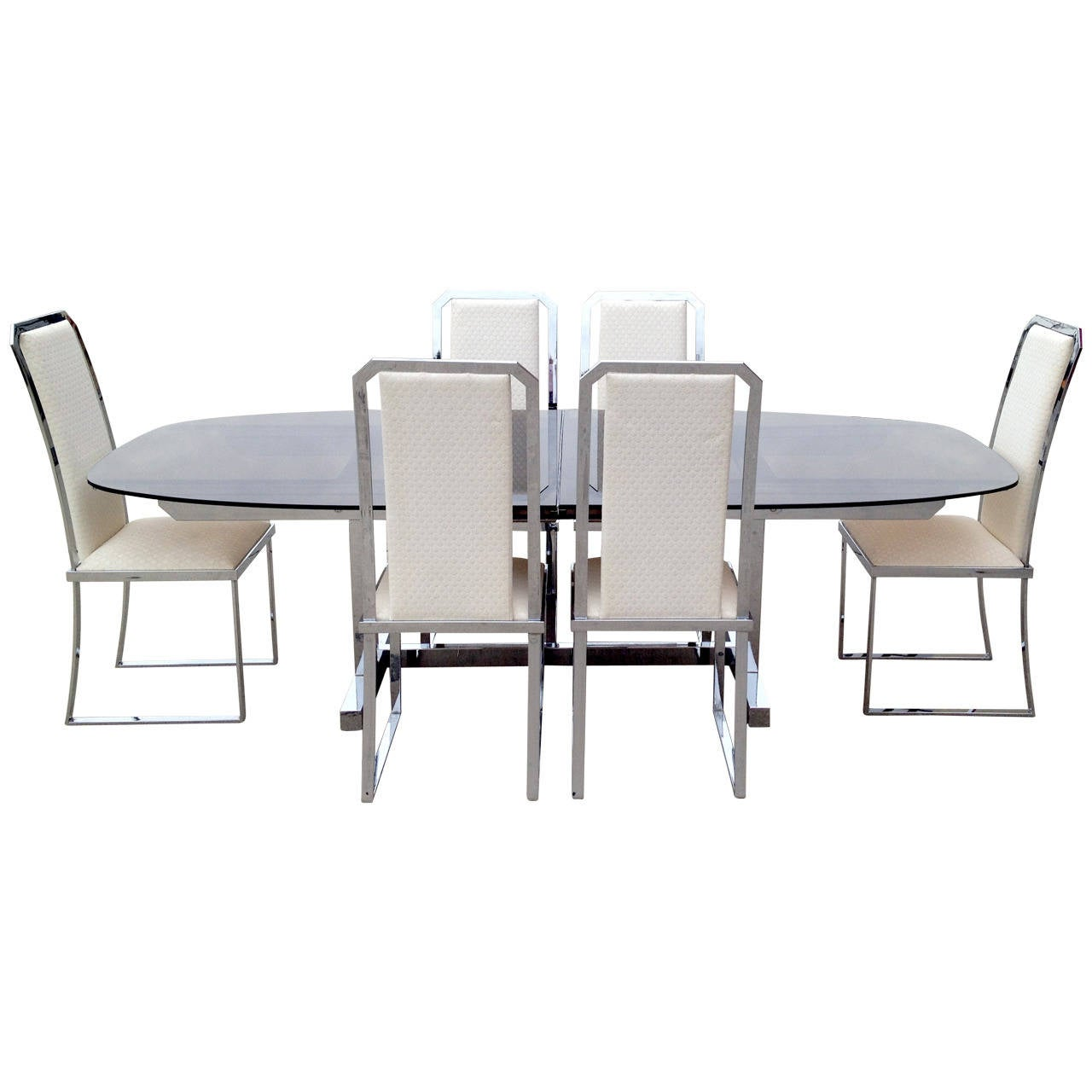 1970s dining set in the manner of milo baughman at 1stdibs