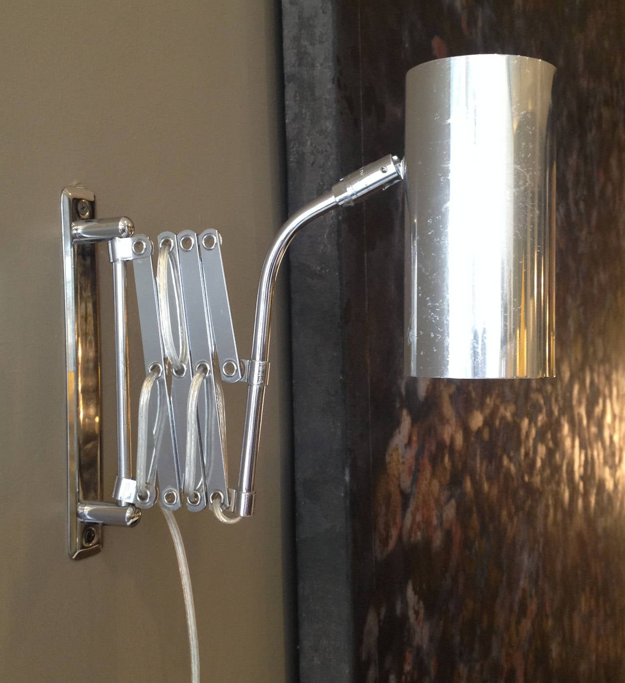 Industrial Style Koch and Lowy Accordion Sconce at 1stdibs
