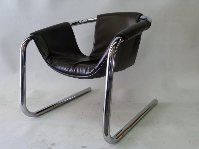 A Pair Of Zermatt Lounge Chairs With Comfortable Sling Seats That Mold To  Your Body For
