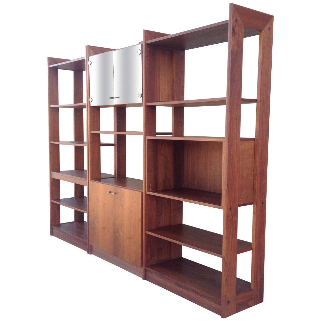 Mid Century Modern Walnut Wall Unit at 1stdibs