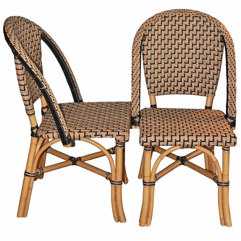 Pair of Faux Cane Bistro Chairs