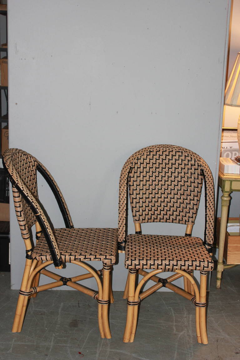 Pair Of Faux Cane Bistro Chairs With Metal Frames. Extremely Strong And  Super Comfortable.