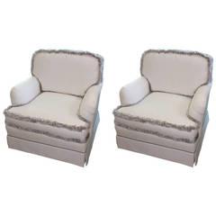 Pair of English Club Chairs