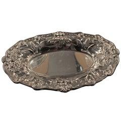 Wunderschön Detaillierte Gravierte Ovale Platte, Federal Silver Company, um 1900