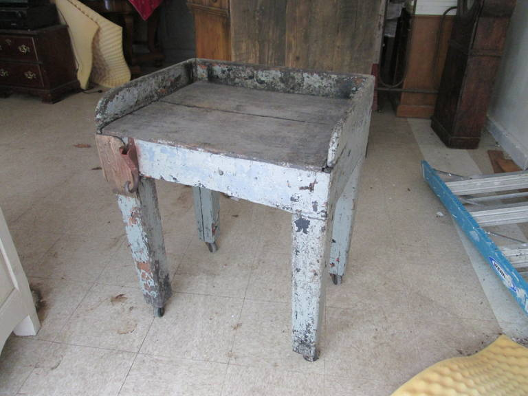 Rustic Swedish Work Farmhouse Table For Sale
