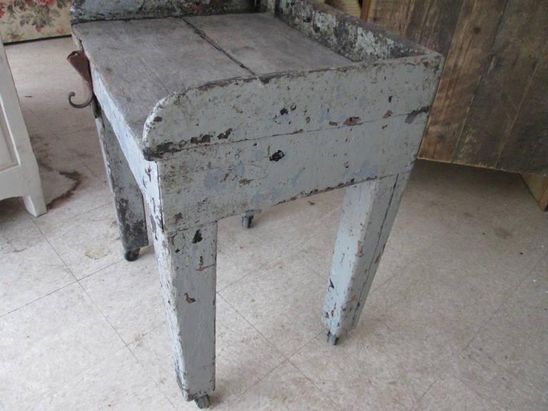 19th Century Swedish Work Farmhouse Table For Sale