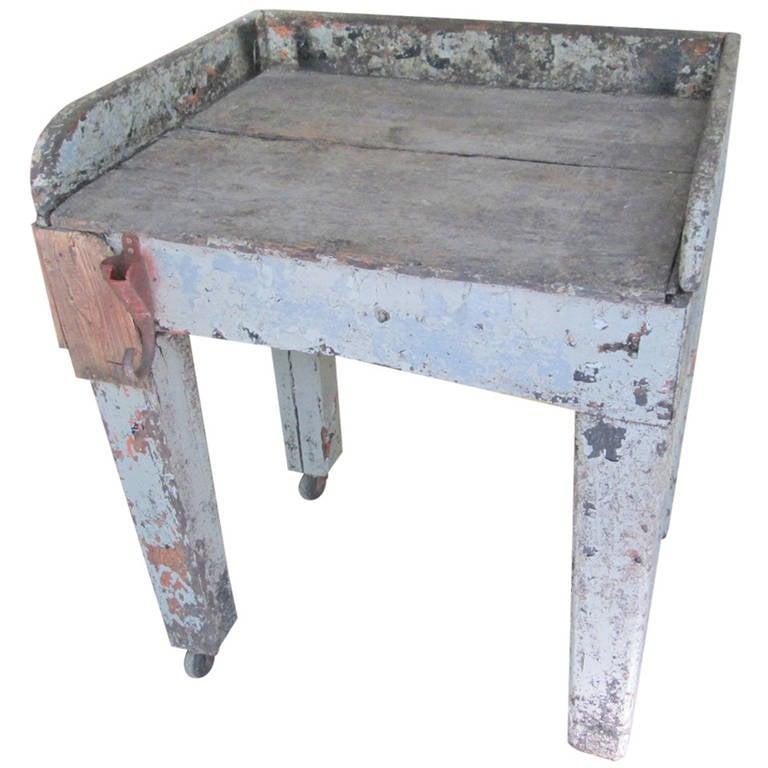 Swedish Work Farmhouse Table For Sale