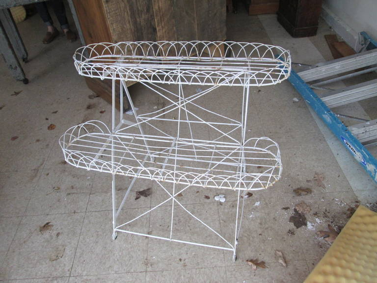 19th Century Frenchwire Plant Stand For Sale