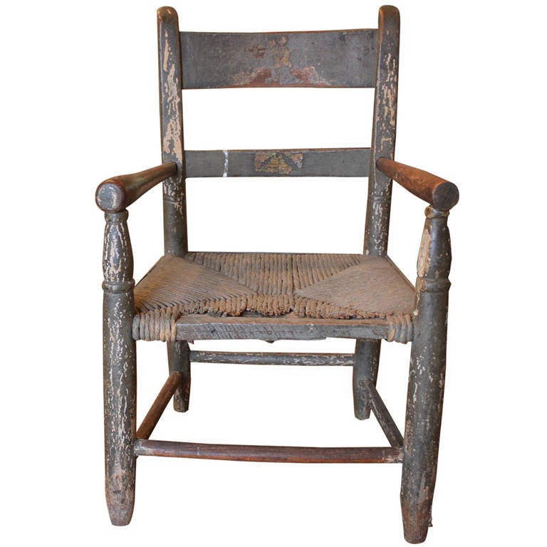 1890u0027s Childs Wooden Chair For Sale