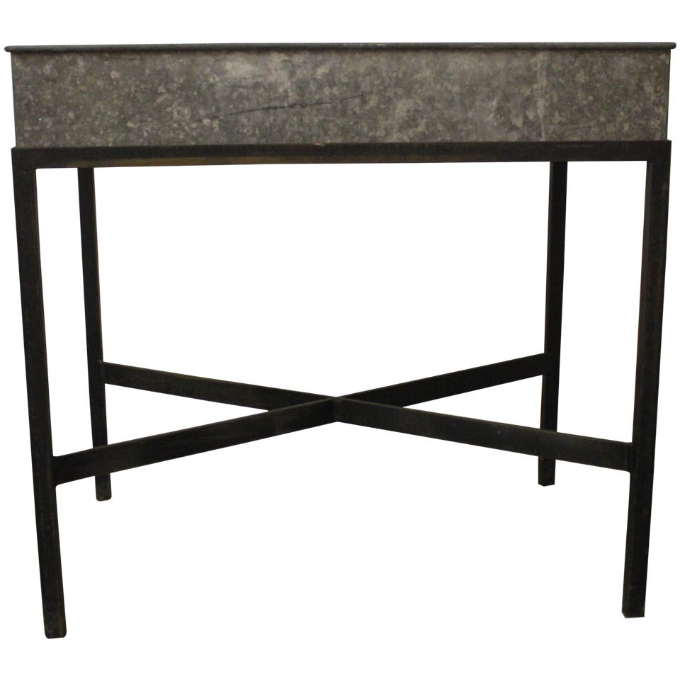 Zinc Metal Planter Box Table Or Bar For Sale At 1stdibs