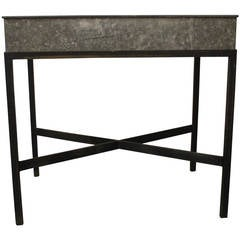Zinc Metal Planter Box Table or Bar