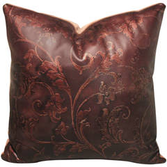 Hand Tooled Leather Pillow