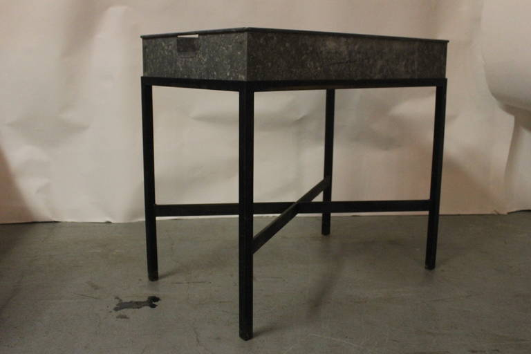 French Zinc Metal Planter Box Table or Bar For Sale