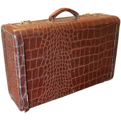 Faux Crocodile Suitcase