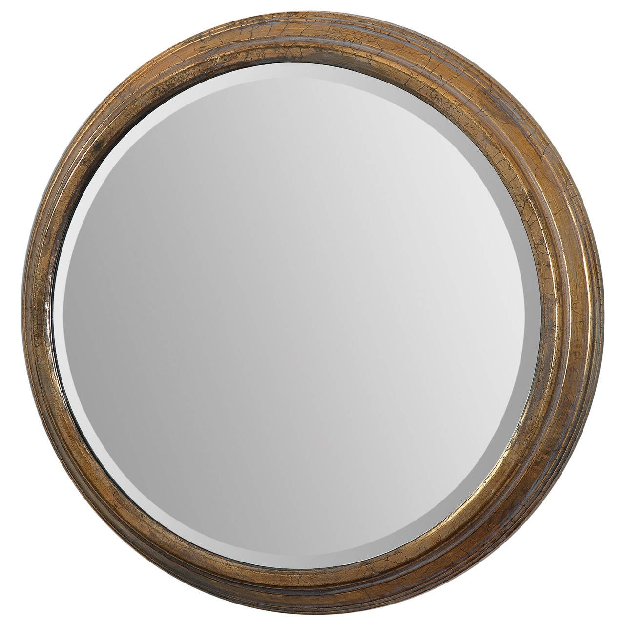 Fabulous belgian gilt metal round mirror at 1stdibs for Round mirror