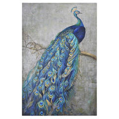 Peacock on Canvas