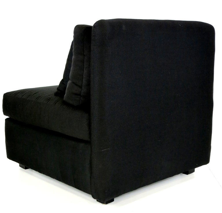 20th Century Chic Pair of Oversized Slipper Chairs by John Mascheroni for Bloomingdales For Sale