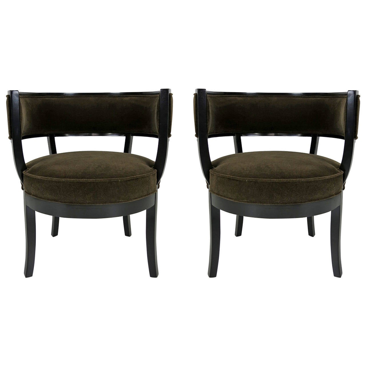Pair of 1940s Barrel Chairs