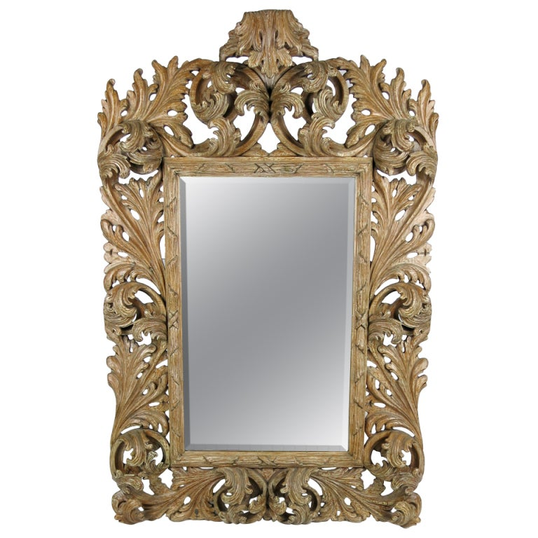 Elaborately Carved Rococo Mirror For Sale