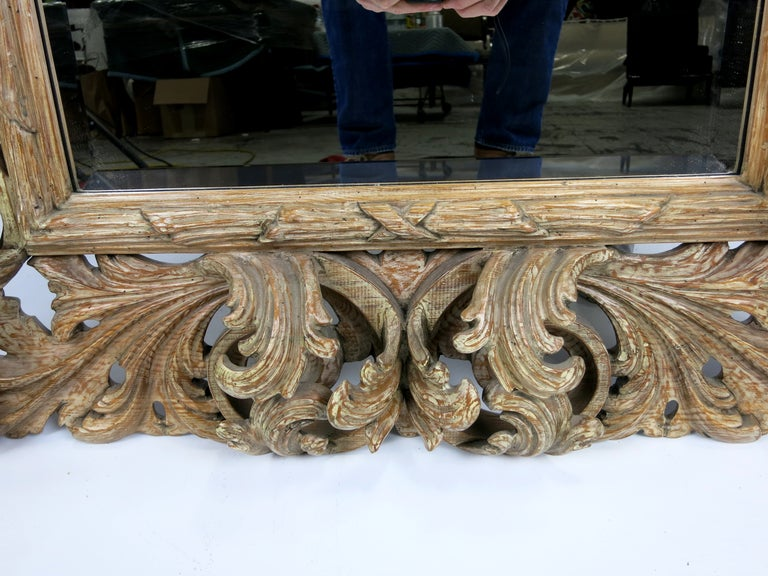 20th Century Elaborately Carved Rococo Mirror For Sale