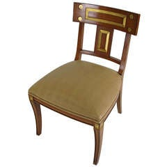 Gilt Regency Side Chair with Lizard seat by Michael Taylor