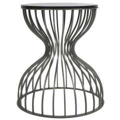 Steel Cage Hourglass Form Side Tables- 4 available
