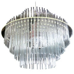 Lucite and Glass Rod Chandelier by Gaetano Sciolari for Lightolier