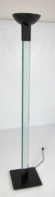 Modernist Glass Column Torchiere For Sale At 1stdibs