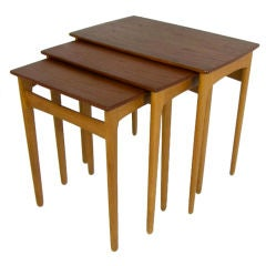 Set of Teak Nesting Tables by Svend Madsen