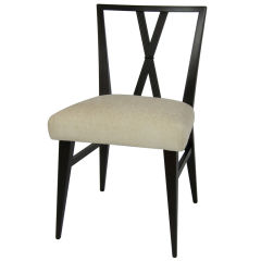 Set of Eight X-Back Dining Chairs by Tommi Parzinger