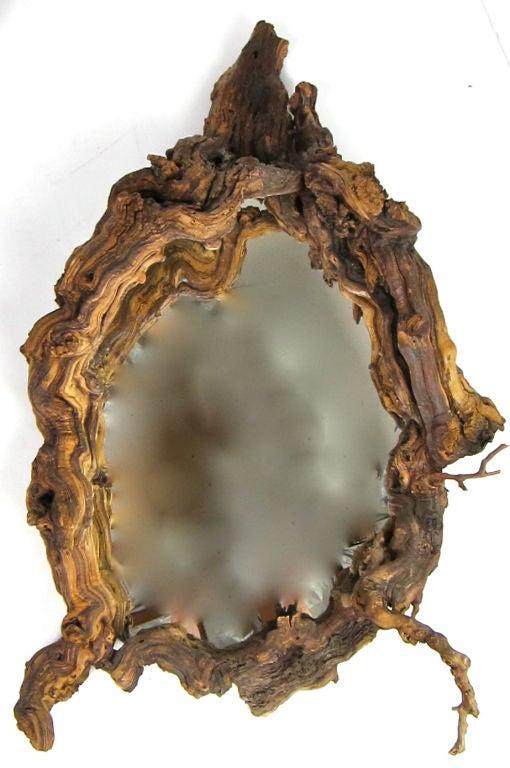 Large Freeform Driftwood Framed Mirror For Sale At 1stdibs