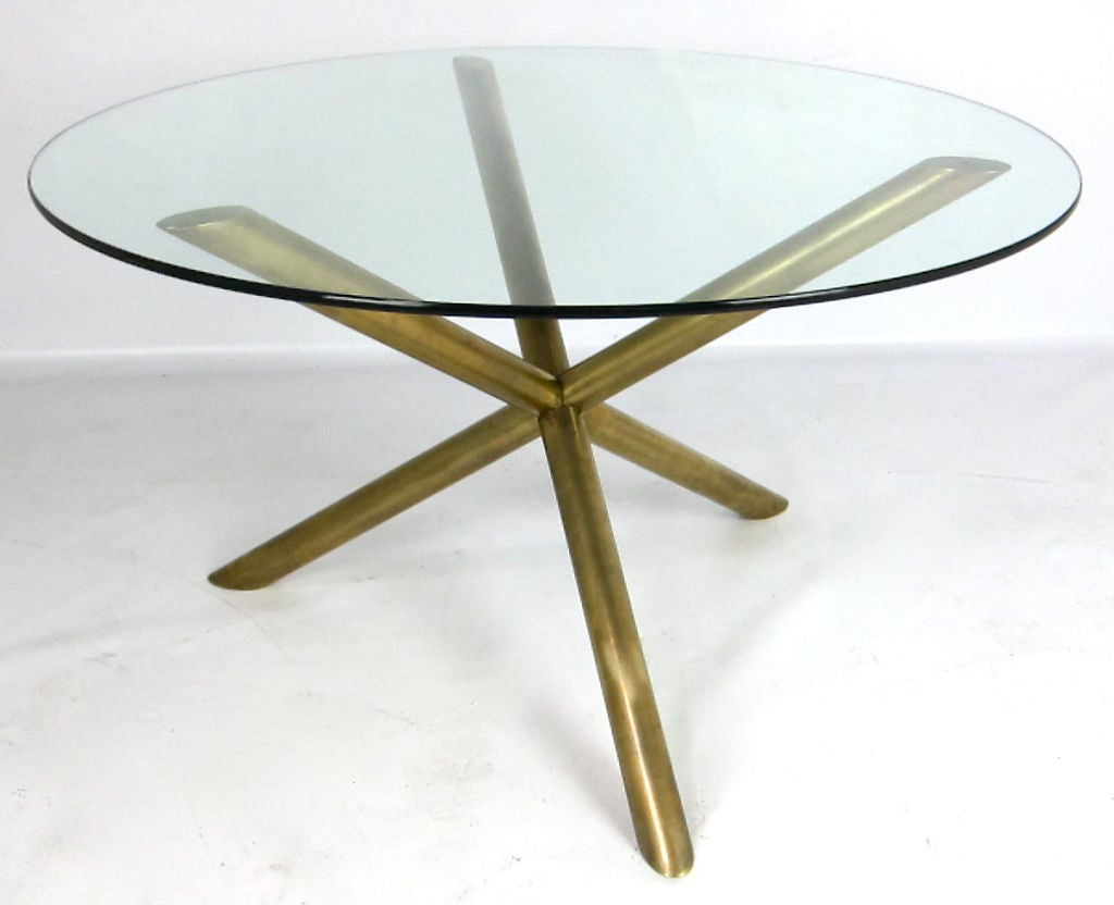 Michael taylor cyprus tree trunk dining table at 1stdibs - Italian Brass Tripod Dining Table 3