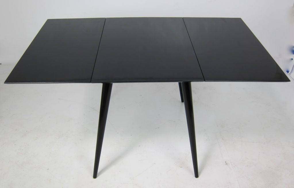 Black Lacquer Dropleaf Dining Table By Paul McCobb At 1stdibs