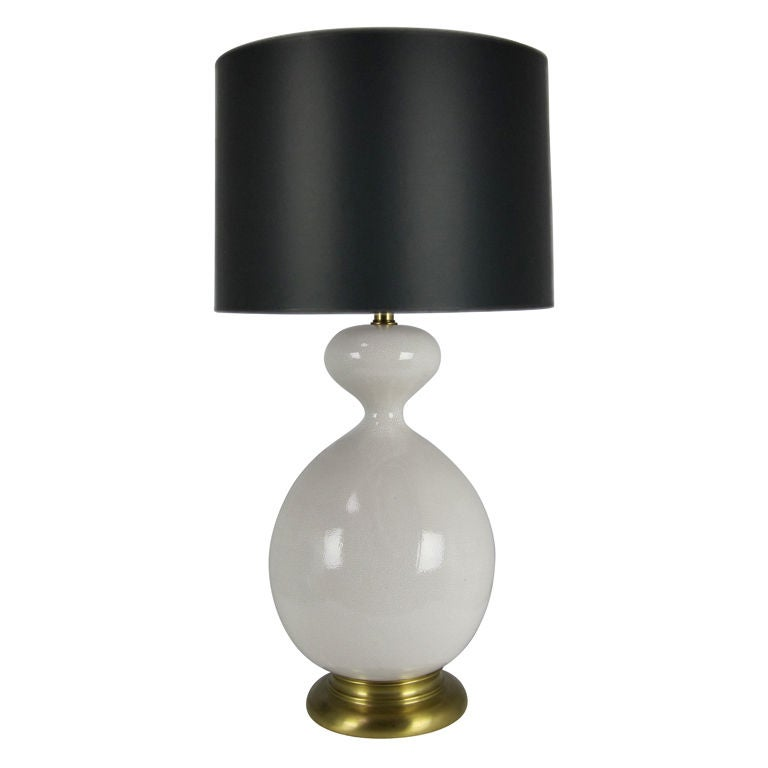marbro crackle glaze gourd form table lamp for sale at 1stdibs. Black Bedroom Furniture Sets. Home Design Ideas