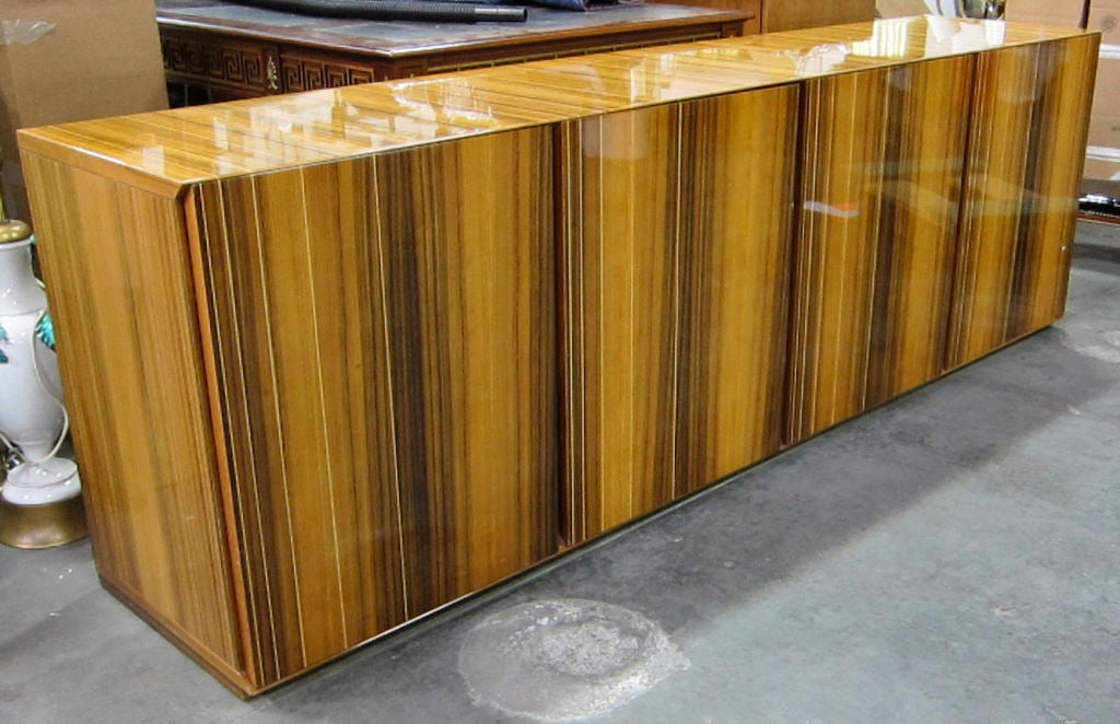 Clean Lined Italian Zebrawood Sideboard At 1stdibs