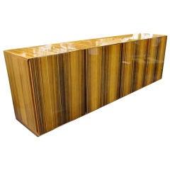 Clean lined Italian Zebrawood Sideboard