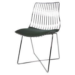 Italian Chrome Wire Desk Chair